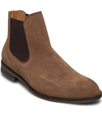 slhlouis suede chelsea boot b noos stövletter chelsea boot brun selected homme