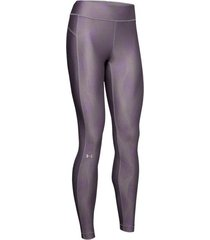 ua hg armour legging metallic - licra de mujer para entrenamiento marca under armour