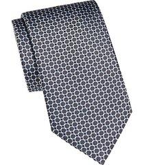 circle link silk tie