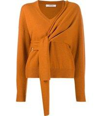 dorothee schumacher wrap tie jumper - orange