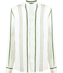 peninsula swimwear la greca striped shirt - neutrals
