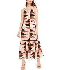 marella cotton desert camo flounce maxi dress
