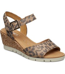 sling sandals sandalette med klack espadrilles beige gabor