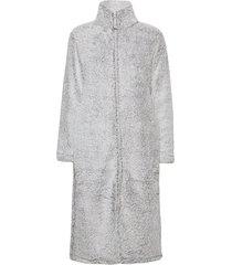 fe fleece robe w zipper morgonrock grå missya