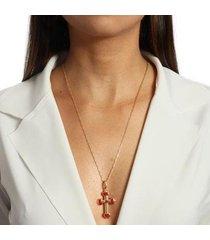 colar cruz esmaltada no banho de ouro 18k - feminino