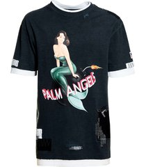 double layered mermaid t-shirt, black