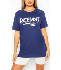 defiant oversized sweat top, navy