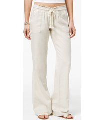 roxy juniors' oceanside wide-leg drawstring pants