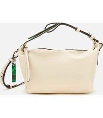 ganni women's leather tote bag - egret