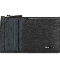 bally cardholder leather wallet - blue