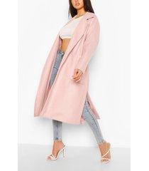 oversized belted wool look coat, nude