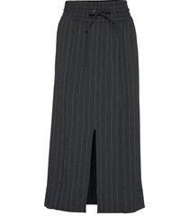heavy crepe skirt lång kjol svart ganni
