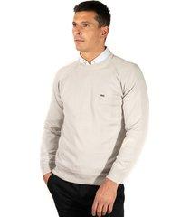 sweater gris pato pampa base algodon gg10 gris perla