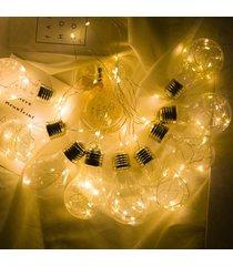 bombilla que cuelga 10 led de encendido cadena firefly jardín gazebo valla plataforma #battery - luz caliente (100 lámpara de la batería)