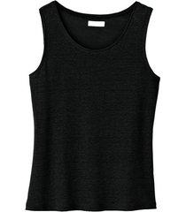 linnen top, zwart 40