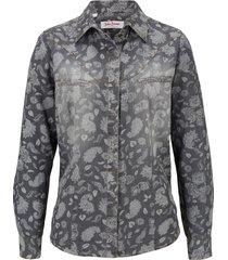 camicia in jeans a maniche lunghe (grigio) - john baner jeanswear