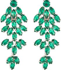 cluster marquise cubic zirconia drop earrings