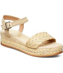 gabir_ks sandalette med klack espadrilles beige unisa
