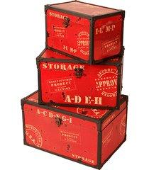 baú de madeira decorativo storage pequeno