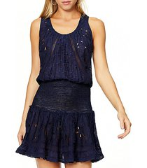 petra popover mini flare dress