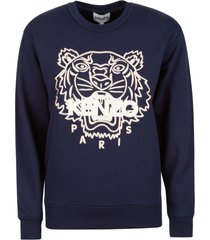 kenzo embroidered crewneck sweatshirt