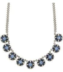 downton abbey crystal enamel collar necklace