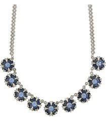 downton abbey crystal enamel collar necklace