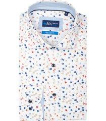 bos bright blue darwin overhemd lange mouw rf 21107da46bo/500 multicolour