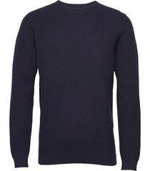 bs cinto stickad tröja m. rund krage blå bruun & stengade