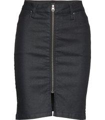 high waist zip skirt kort kjol svart lee jeans
