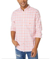 nautica men's big & tall oxford plaid shirt