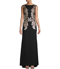 sequin-embellished sleeveless gown