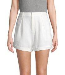 cotton & linen-blend shorts
