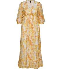 yascitrus 3/4 ankle dress s. maxiklänning festklänning gul yas