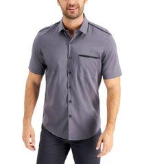 alfani men's piped tech shirt, created for macy's