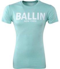 ballin est. 2013 heren t-shirt ronde hals slim fit mint groen