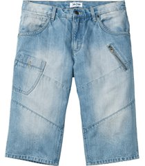 bermuda di jeans lunghi regular fit (blu) - john baner jeanswear