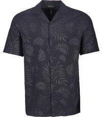 emporio armani floral print woven shirt - blue 3g1ca21nmcz