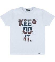camiseta em malha  ser garoto branca - branco - menino - algodã£o - dafiti
