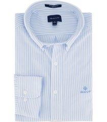 gant overhemd regular fit gestreept blauw
