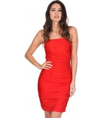 ax paris ruched bandeau dress