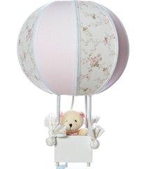 abajur balãozinho ursa potinho de mel rosa