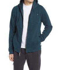 men's vuori seaside men's zip hoodie, size small - blue