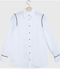 blusa ash lisa blanco - calce regular