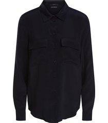 zijden blouse met zakken jane  zwart