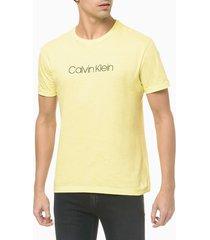 camiseta slim básica flamê calvin klein - verde claro - g