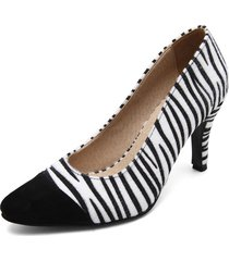 zapato ante negro*textura zebra blanca