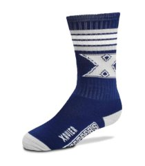 for bare feet youth utah utes 4 stripe deuce crew socks