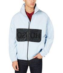 jacket mesh-inset