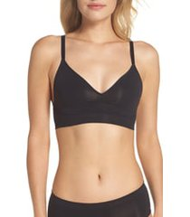 halogen(r) seamless day bra, size x-large in black at nordstrom